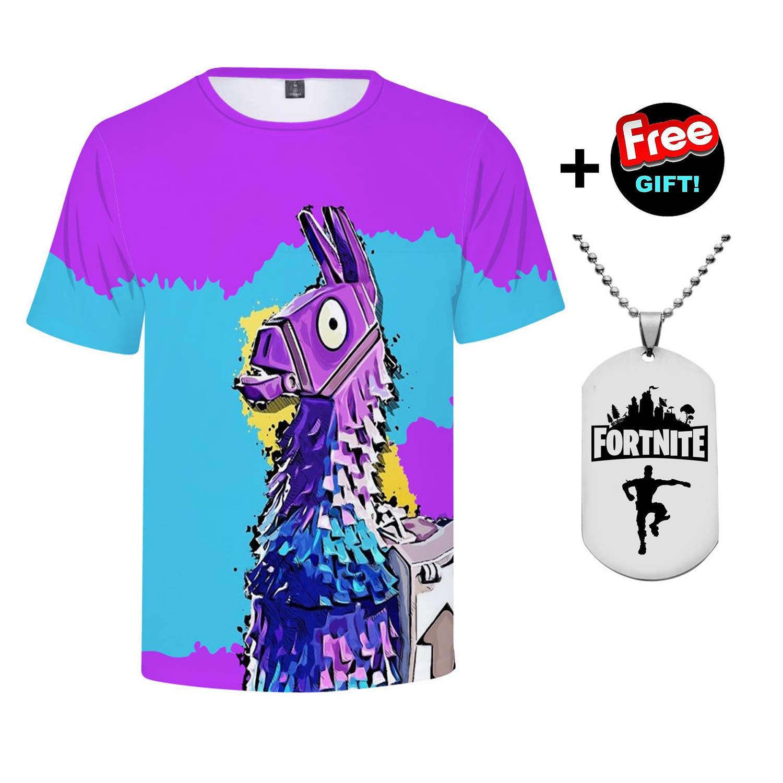 WEONEDREAM Boys Kids Fashion Brands Fortnite Men/Women T Shirt Casual Short Sleeve Men's T-Shirts Print T Shirts Camisetas Hombre Tops Tees 12 Tshirts T-Shirts Battle Royale Casual (Q0041YH08, 160)