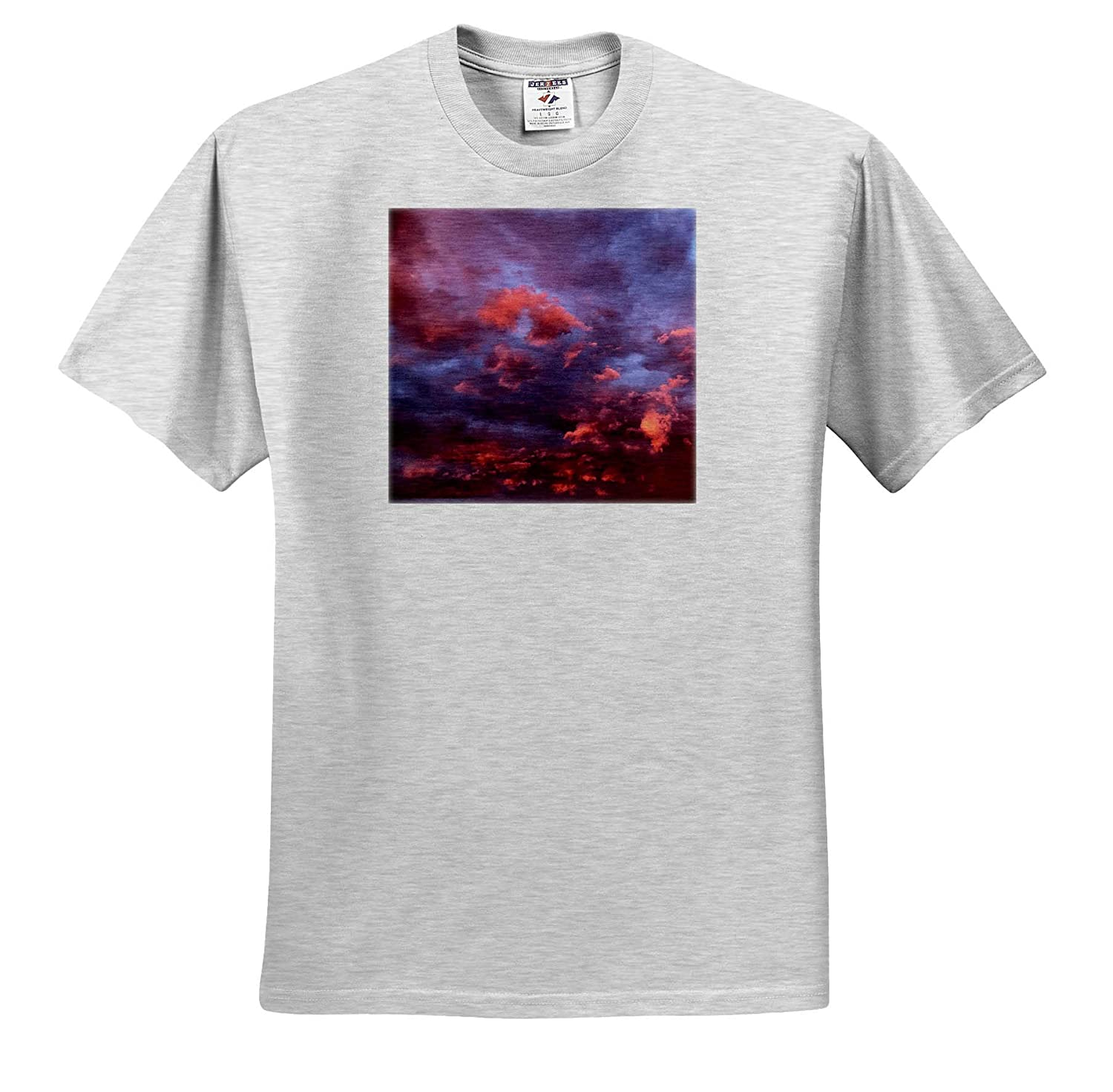 3dRose Stamp City - T-Shirts Photograph of a Super Amazing Sky in Between Thunderstorms Landscape