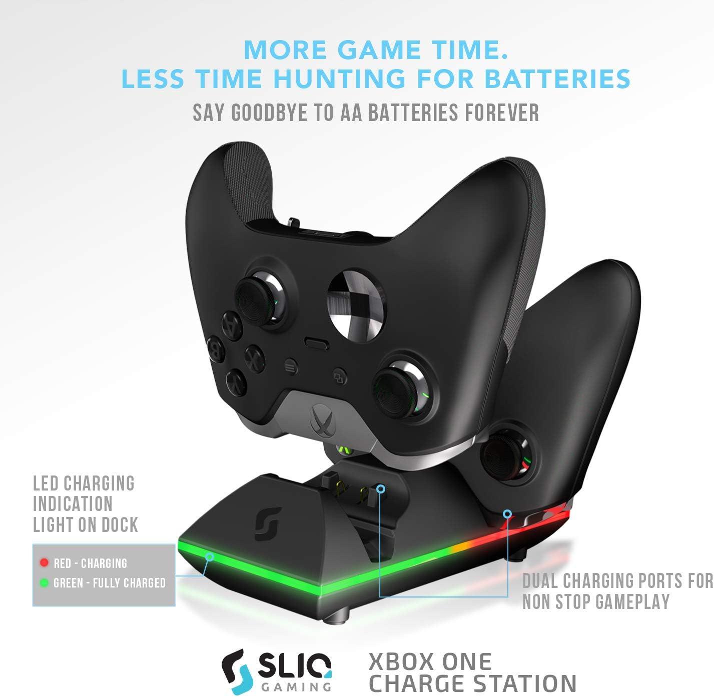 Amazon.com: Sliq Xbox One/One X/One S - Cargador y batería ...