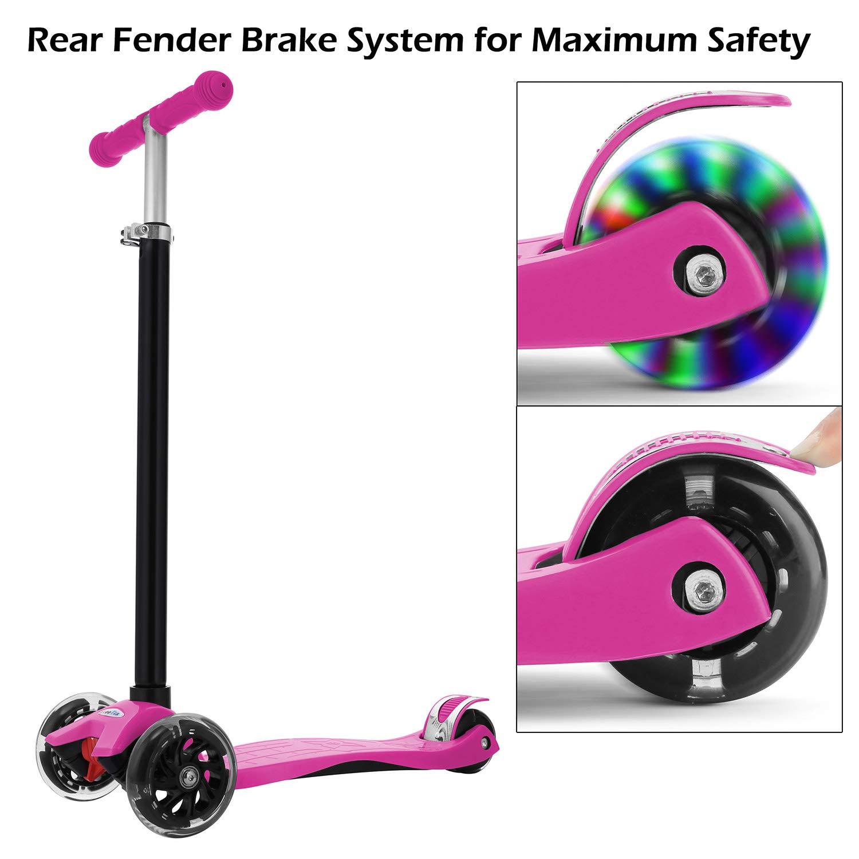 Amazon.com: Oanon Kick Scooter para niños 3 altura ajustable ...