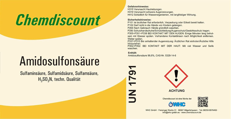 Poliamida osulfon Acid 1 kg (1000g, sulfámico) por ejemplo desincrustantes para cafeteras versandkostenfrei.: Amazon.es: Hogar