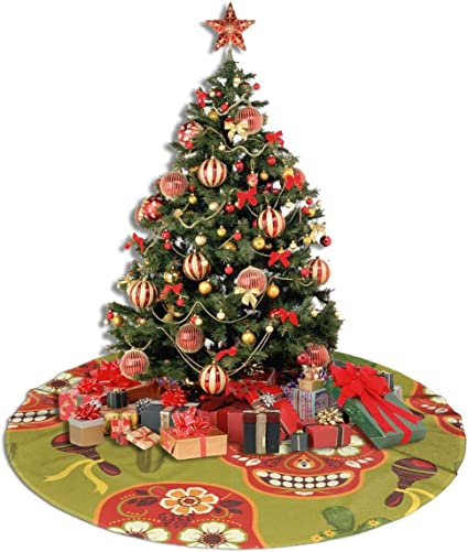 Pengyong - Falda para árbol de Navidad, diseño de Calavera y ...