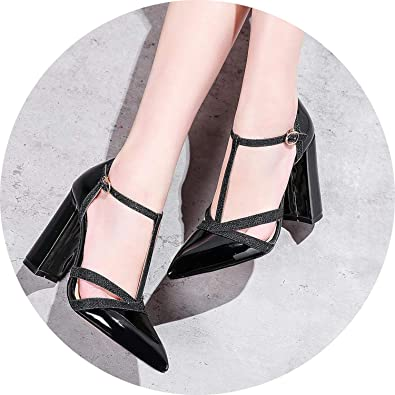 Amazon Com Get In Patent Leather Women Pumps Spring Shoes T