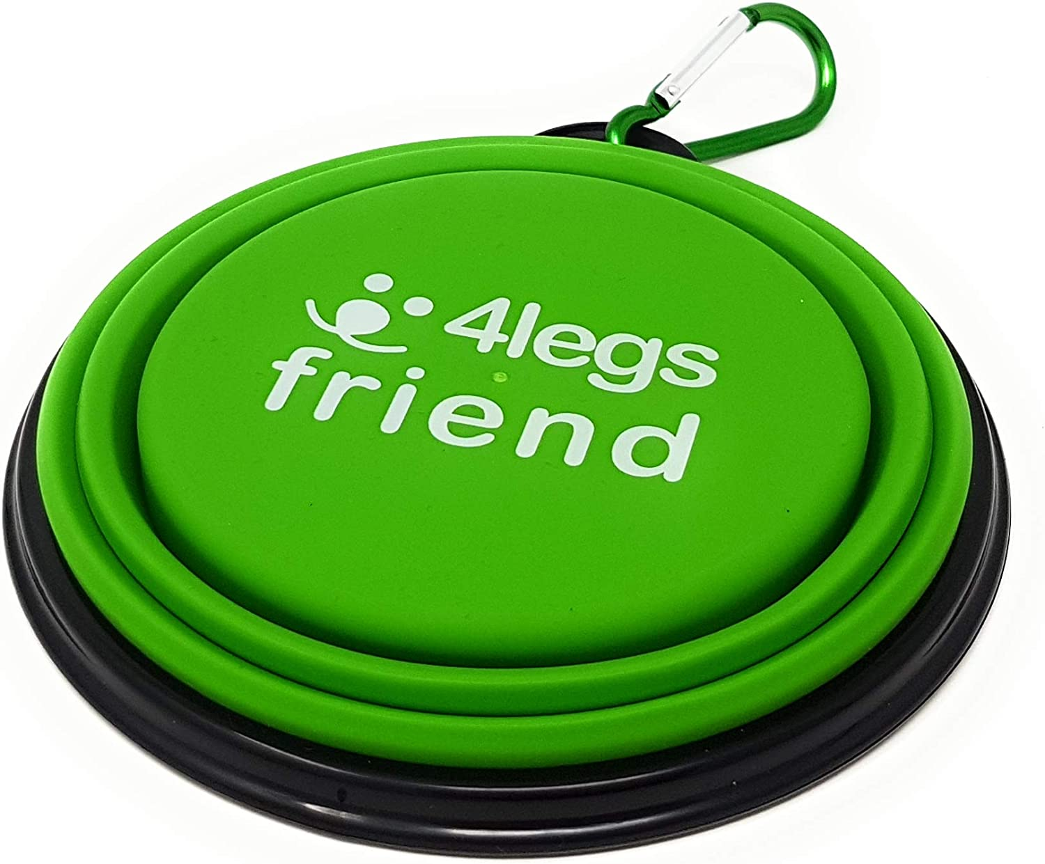 4LegsFriend Pet Bowls with Carabiner Clips | BPA Free Food Grade Silicon for Dog and Cat Expandable Travel Bowls Comes in 2 Sizes | Pop Out Dog Bowls