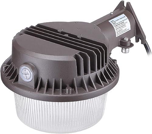 TORCHSTAR LED Security Area Light 43 Watts, Dusk to Dawn Barn Lights with Photocell, Ultra Bright Yard Light, 3000K Warm White, 150W HID Light Equal, Farm, Porch, Backyard