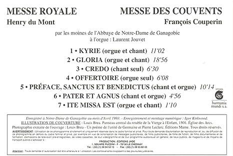 Du Mont Messe Royale Couperin Messe Des Couvents