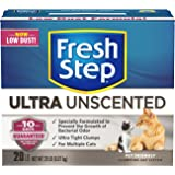 Fresh Step Cat Litter Odor Shield Scoopable, Unscented, 20 Pound Carton