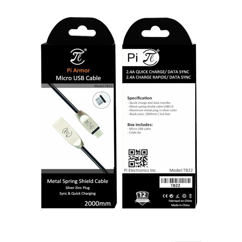 PI Armor Cable de Micro USB muelle de metal escudo: Amazon.es: Electrónica