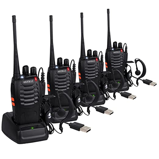 67 opinioni per ESYNiC 4pz Walkie Talkie Lunga Distanza Due-Via Radio UHF 400-470MHz con