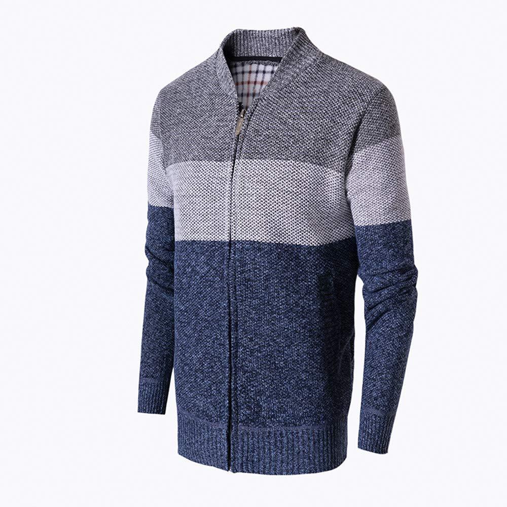 KPILP Männer Beiläufig Herbst Winter Sweatshirt Zip Warm
