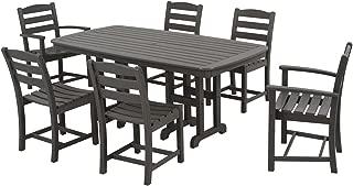 product image for POLYWOOD PWS131-1-GY La Casa Café 7-Piece Dining Set, Slate Grey