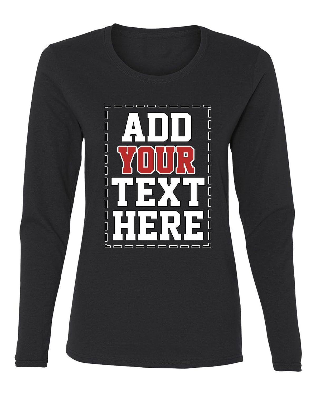Amazon Custom Long Sleeve Shirts For Women Make Your Own