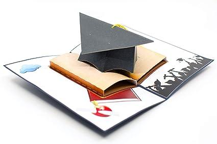 d4389fe6700bf Amazon.com: DELUXE HANDMADE GRADUATION CAP POP UP CARD - Ideal for ...