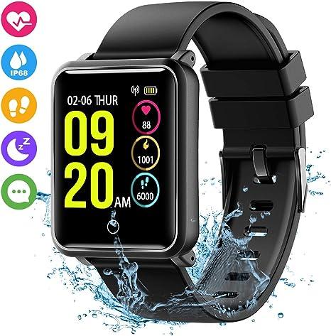 Seneo Smartwatch IP68 Orologio Fitness Tracker Uomo Donna Pedometro Cardiofrequenzimetro da Polso Calorie Monitor del Sonno Smart Watch Braccialetto