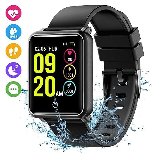 Montre Intelligente Connectée, Bracelet Connecté, Montre Électronique du Sport