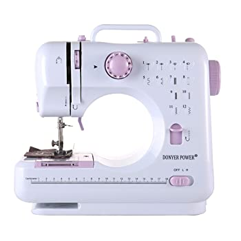 DONYER POWER Electric Sewing Machine Portable Mini with 12 Built-in Stitches