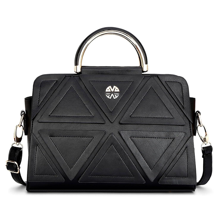JZ CHIEF Triangle Patckwork Women Handbags Spring Lady Shoulder Bags
