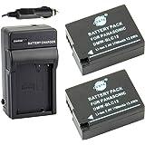 DSTE® アクセサリーキット Panasonic DMW-BLC12 BP-DC12 互換 カメラ バッテリー 2個+充電キット対応機種 Lumix DMC-G5 G6 G7 GH2 FZ200 Leica Q