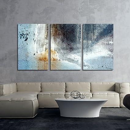 Amazon.com: wall26 3 Panel Canvas Wall Art - Grunge Rusty Style ...