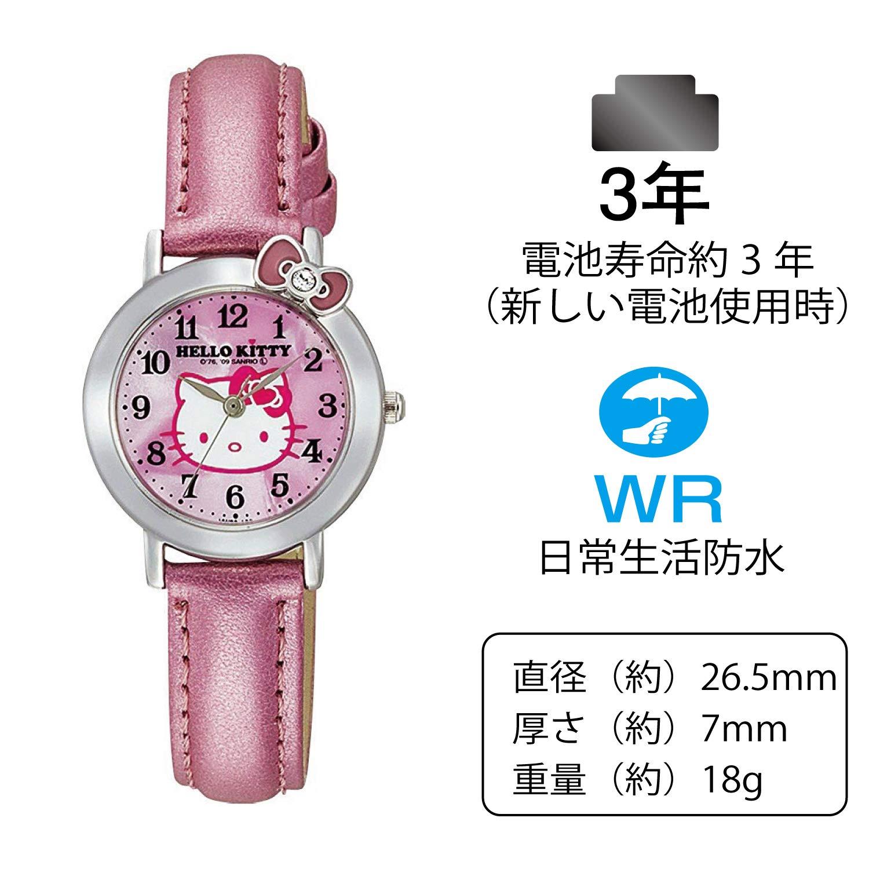 e539d1418 Amazon.com: Hello Kitty Classic Ribbon Analogue Watch (Pink) - Hello Kiity  Watch ( Lady / Girls size): Watches