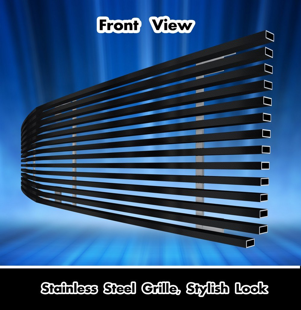 APS Compatible with 1986-1990 Chevy Caprice Black Stainless Steel Billet Grille Grill Insert C86004J