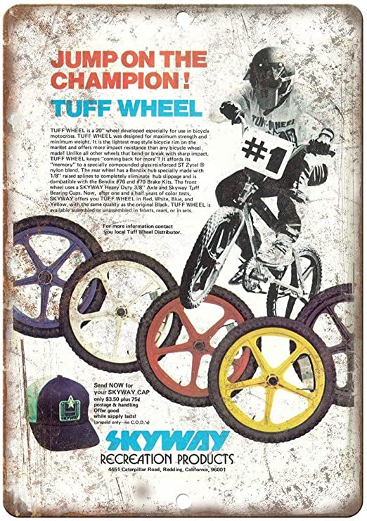 HiSign Skyway Wheels BMX Retro Cartel de Chapa Coffee Póster ...