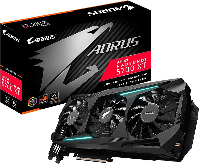 GIGABYTE AORUS Radeon RX 5700 XT 8G Graphics Card, PCIe 4.0, 8GB 256-Bit GDDR6, GV-R57XTAORUS-8GD Video Card