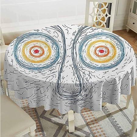 Mantel redondo lavable XXANS, psicodélico, estilo bohemio, efecto ...
