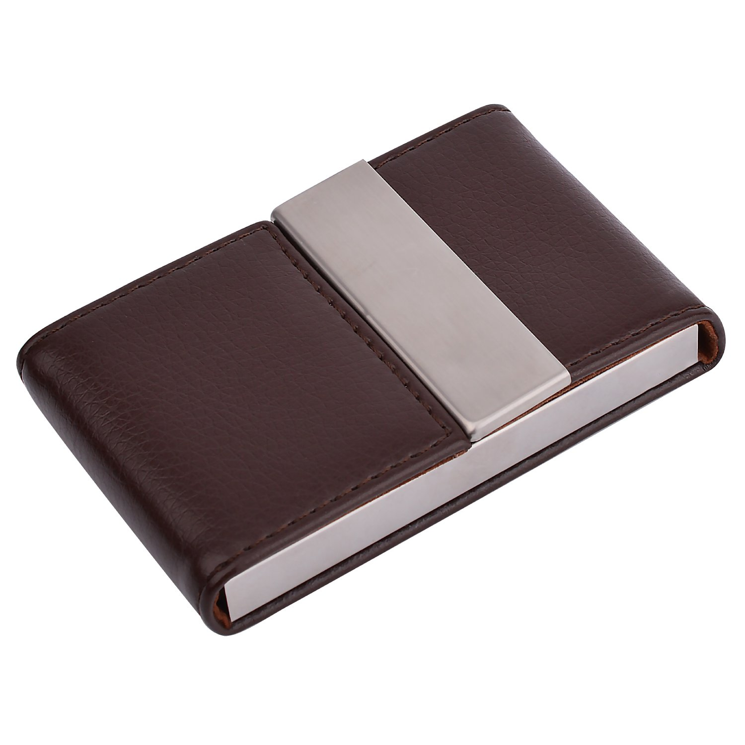20f22129ffb9 MaxGear PU Leather Business Card Holder Name Card Holder Case Credit Card  Case with Magnetic Shut