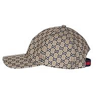 acfd72e796a Gucci Men s Navy Blue GG Guccissima Web Stripe Baseball Cap Hat