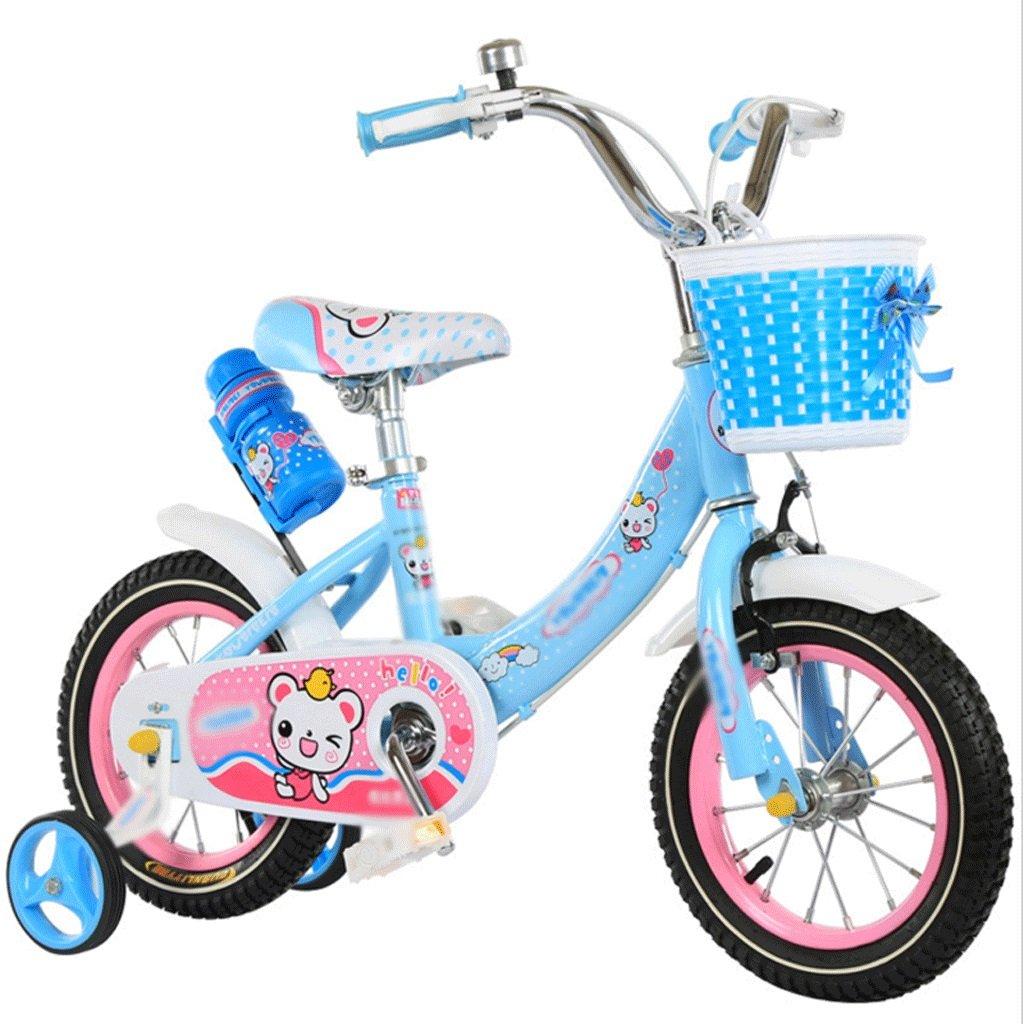 自転車 新しい子供のプリンセス自転車トレーニングホイール12インチ14インチ16インチ3から8歳エレガントブルー (サイズ さいず : 14 inch) B07DZSH3X8 14 inch 14 inch