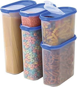 Food Storage Containers -STACKO- 20 PC. - Airtight Dry Food Container with Lids (2, 4.5, 7, 10, 12 Cups)