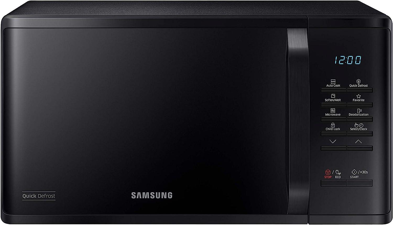 Samsung MS23K3513AK Horno Microondas Grill último 23 litros, 800 W, Grill 1100 W, Negro