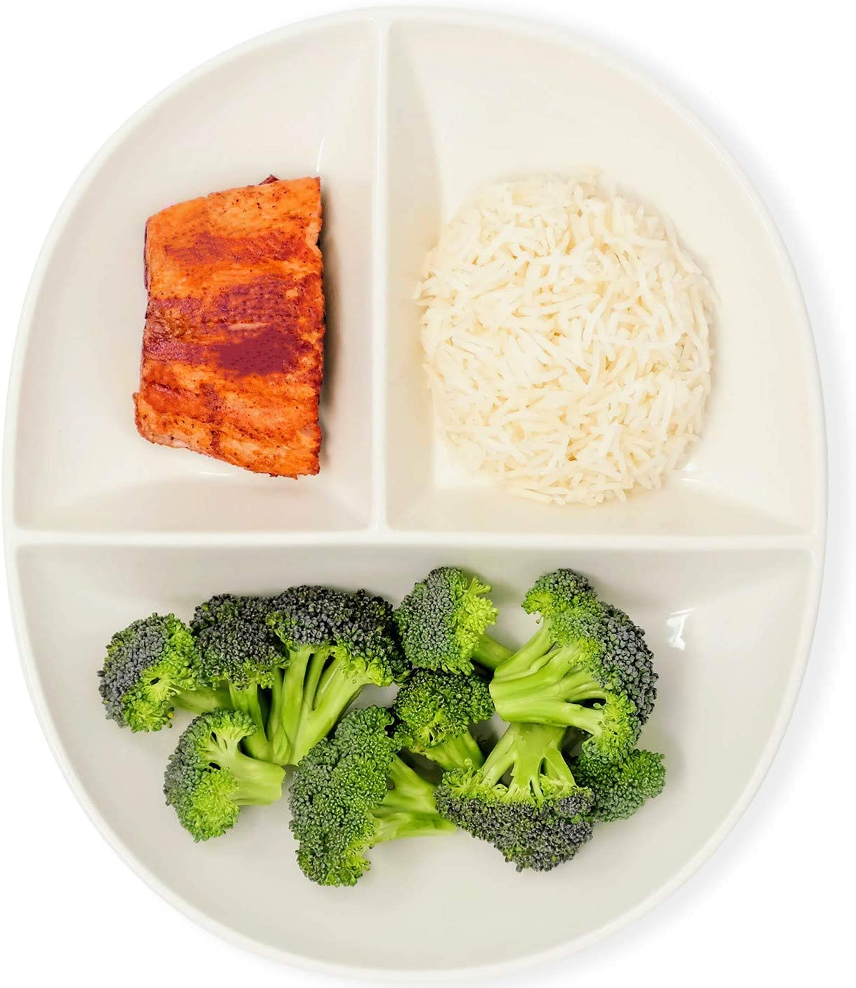 Portion Control Plate for Healthy Eating & Weight Loss | Divided Porcelain Dinner Plate for Adults & Kids (2)