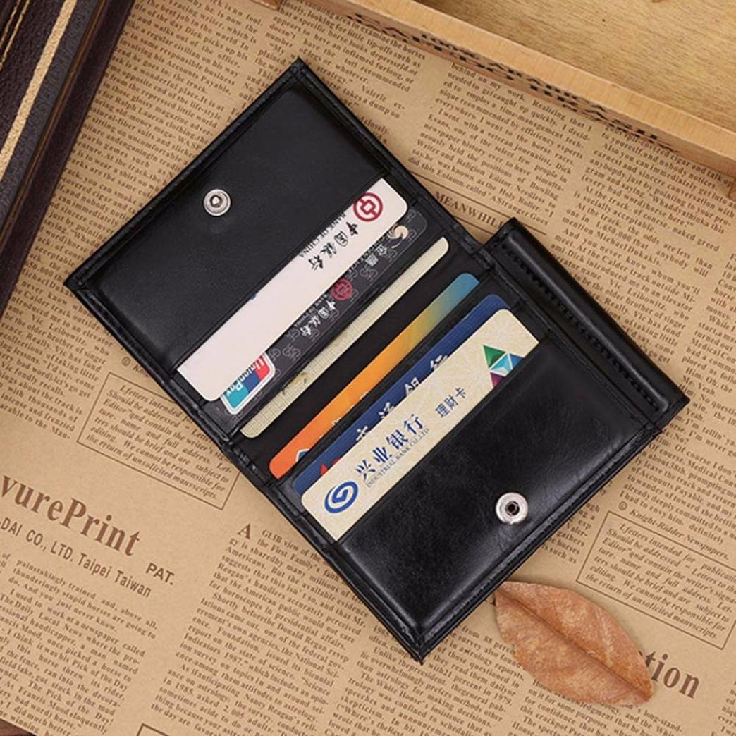 Amazon.com: Wobuoke Mens Bags PU Leather Stylish Card Cash Receipt Holder Bifold Wallet Purse Minimalist (Black): Shoes