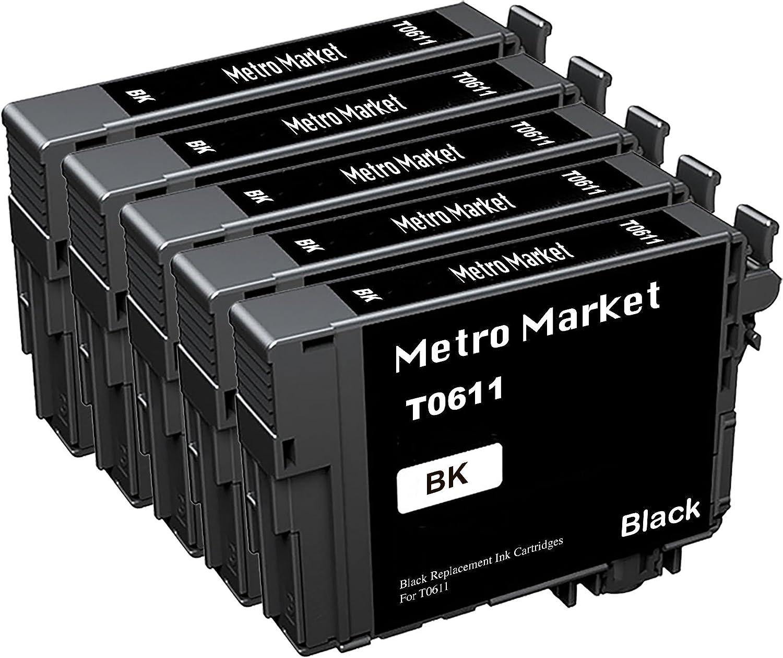 Metro Market 5 Piezas Reemplazo para Epson T0611-T0614 (T0615 ...