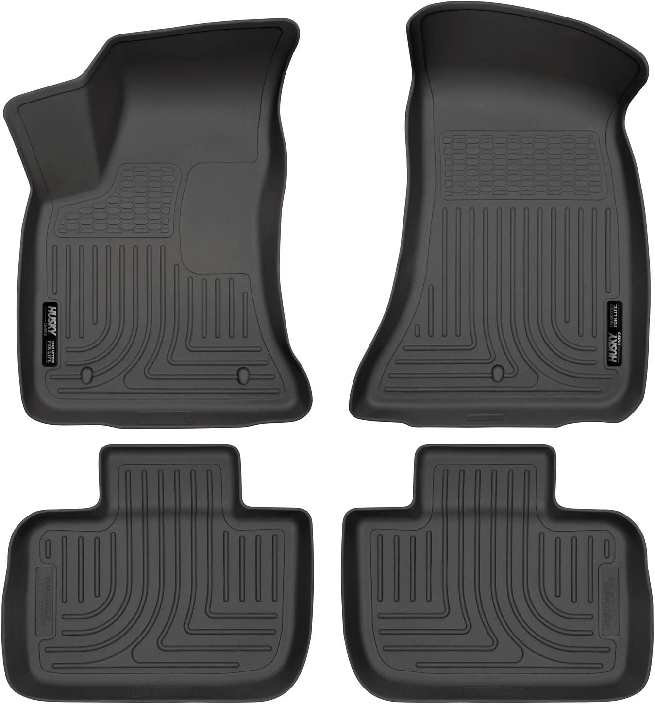 Amazon Com Husky Liners 98061 Black Weatherbeater Front 2nd