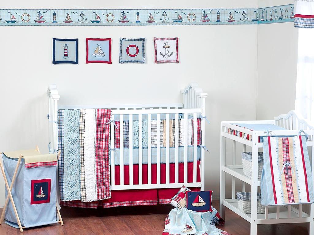 Design Crib Bedding For Boys amazon com aidan 4 pc crib bedding set red baby