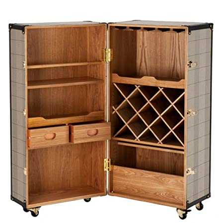Casa Padrino casa padrino luxury bar cabinet in vintage suitcase design chest