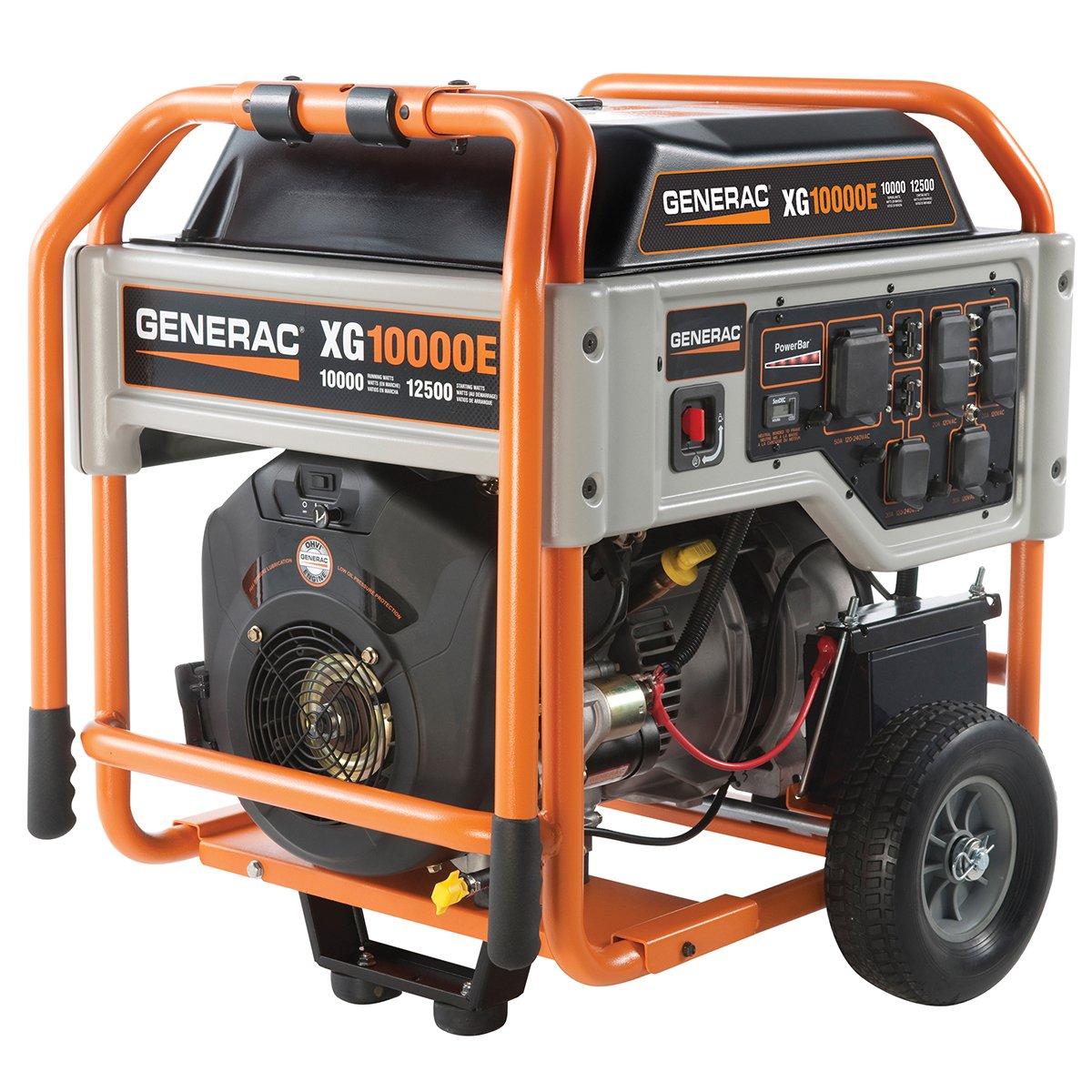 Generac 5802, 10000 Running Watts/12500 Starting Watts, Gas Powered Portable Generator