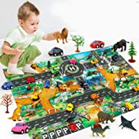 Deals on Adoeve Home Children Simulation Road Animal Play Mat