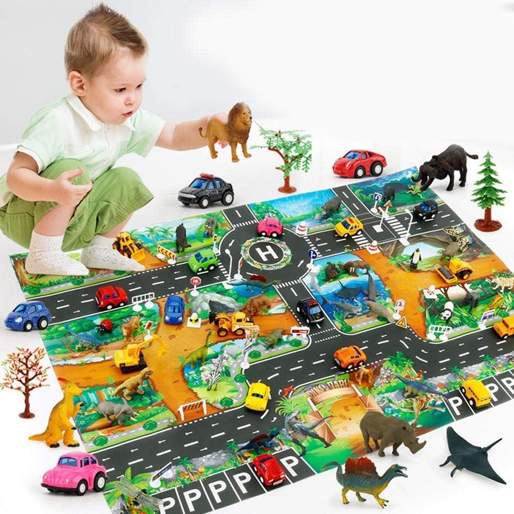 FastDirect Home Children Boys Girls Simulation Road Animal Play Mat Shirts