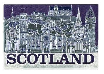 Kühlschrank Folie : Schottland montage silber folie prägung kühlschrank magnet landmarks