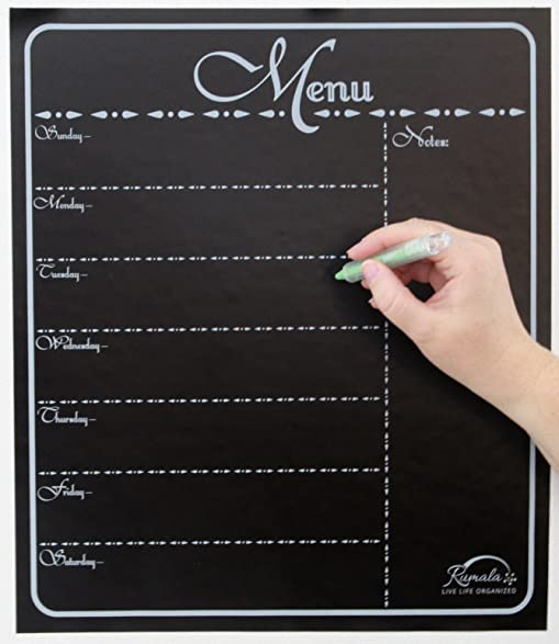 Captivating Decorative Menu Chalkboard | Beautiful Chalkboard Menu Planner | Kitchen  Chalkboard Menu | 14u201d X