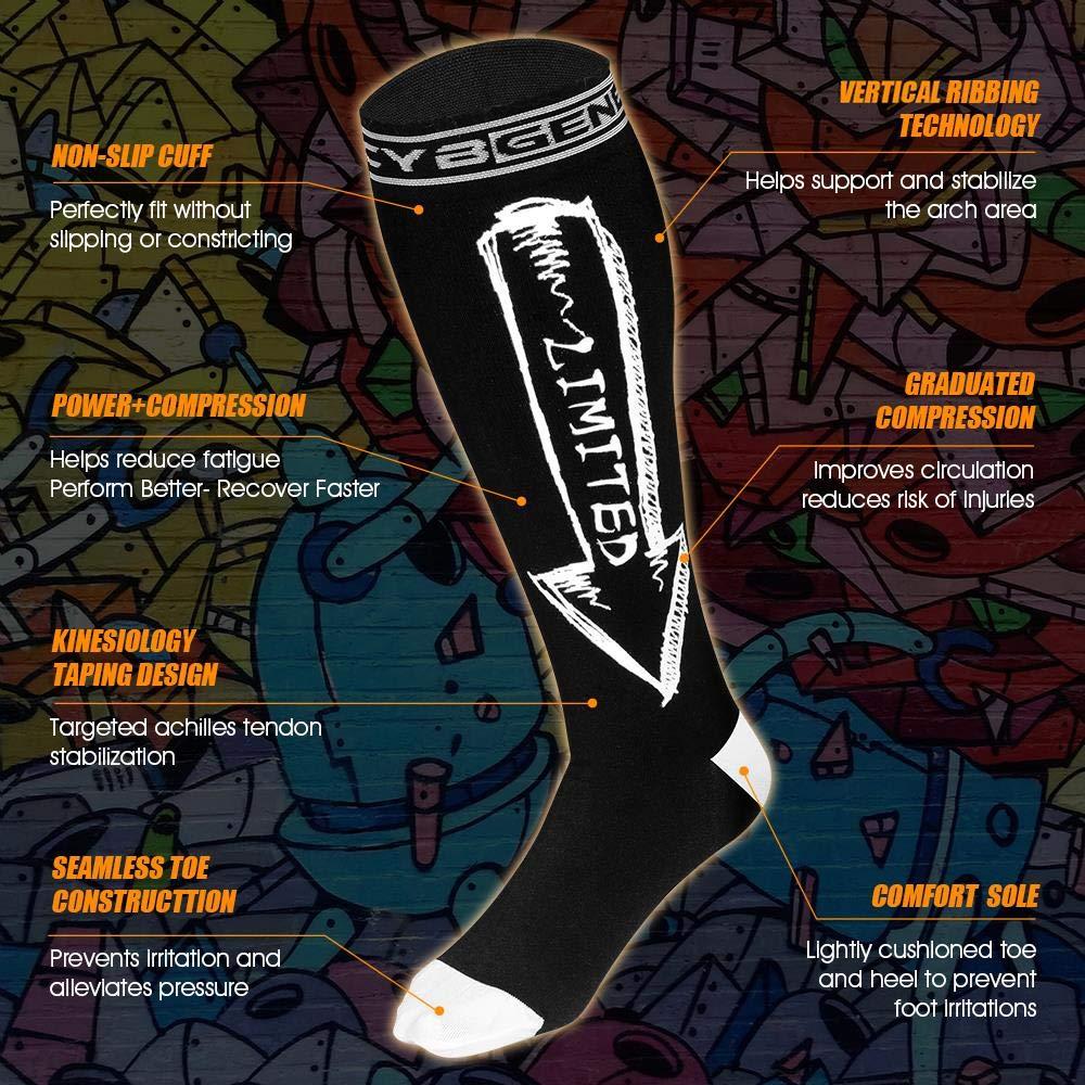 Compression Socks for Men & Women (15-20mmHg), Swag Calf Knee High Graduated Compression...