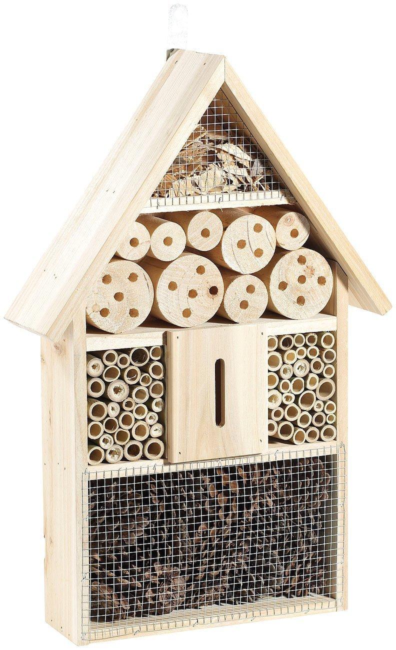 Monsterzeug Insektenhotel mit Vogelschutz, Bausatz, Selber Bauen, Nistkasten, Überwinterungshilfe, Lernspielzeug, Holz Überwinterungshilfe