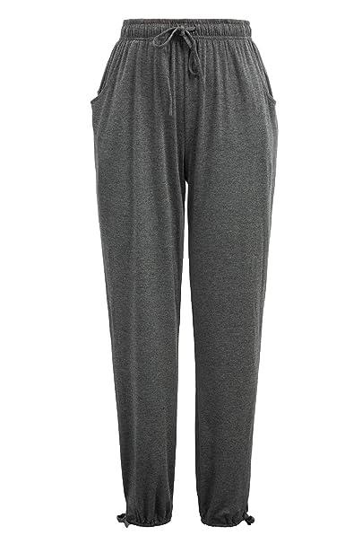 Zexxxy - Pantalones Largos de chándal Casuales para Mujer, Cintura ...