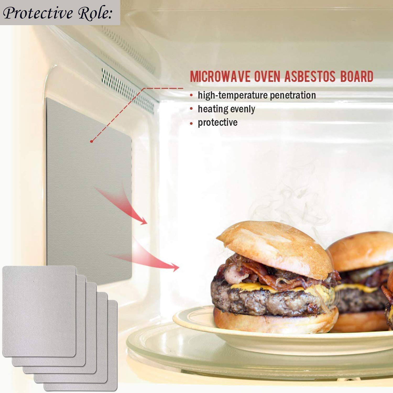 Bluesees per elettrodomestici da cucina Set di 10 piatti in mica per microonde e forno a microonde tagliati su misura 13 cm x 13 cm