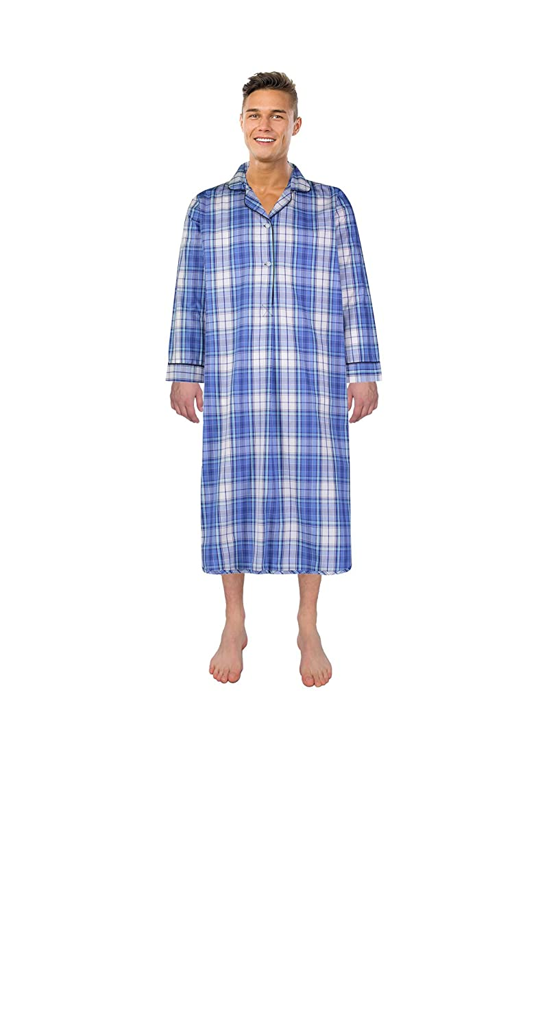 Bill Baileys Sleepwear Mens Broadcloth Woven Nightshirt Sleep Shirt 2702