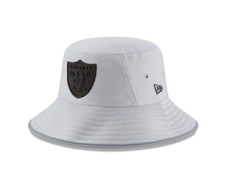 3b3c7a9f New Era Oakland Raiders NFL 2018 Training Camp Sideline Bucket Hat - Gray
